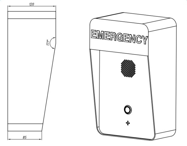 Outdoor Weatherproof VoIP Emergency Call Box , Anti-vandal SIP Telephone