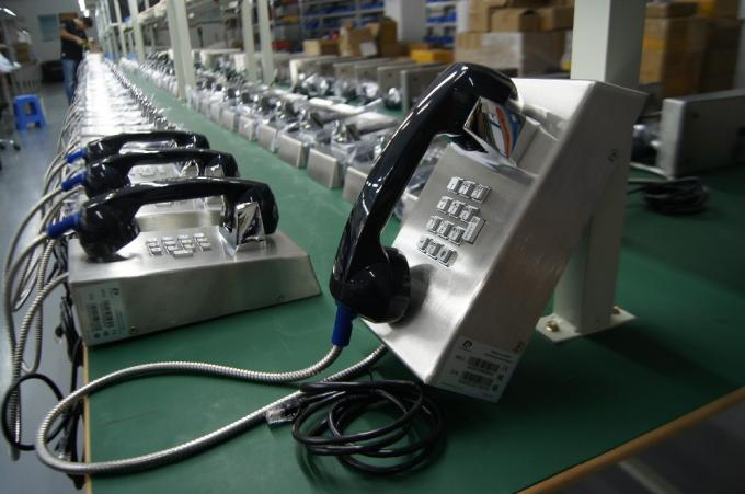Cold Rolled Steel Prison Visitation Phone , Jail Telephone ABS Material With Armored Cord