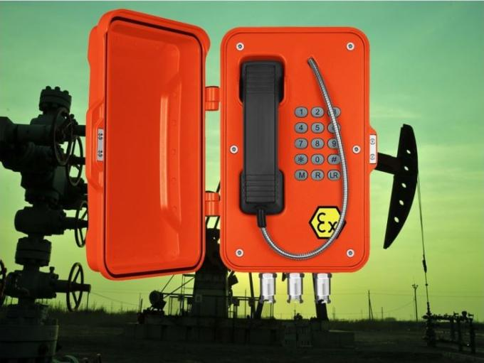 Weatherproof Explosion Proof Telephone Power Plant Type JREX101 Wall / Pillar Mounting