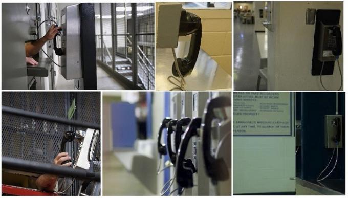 Inmate Prison Visitation Phone , Auto Dial Emergency Telephone Easy To Install