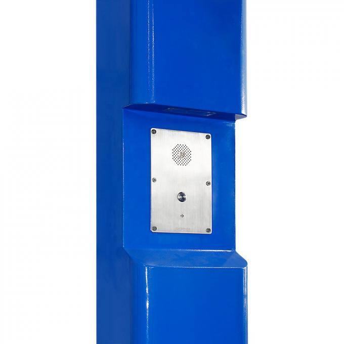 SOS Solar Power Emergency Phone LED Blue Light For Malls / Campuses / Open Areas