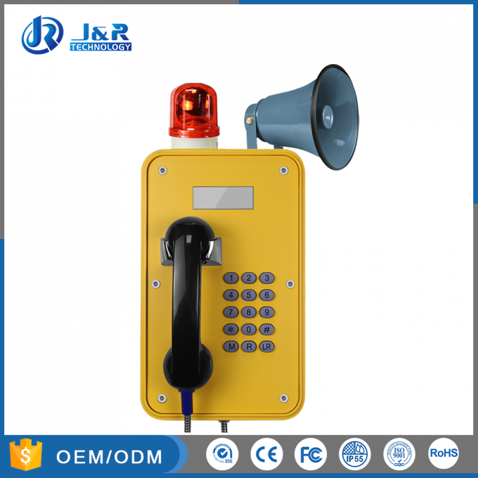 Standard Keypad Outdoor Industrial Telephone, IP67 VOIP/SIP Telephone With LED Display
