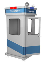 China Vandal Resistant Soundproof Phone Booth Robust Galvanised Metal Material Stand Alone supplier