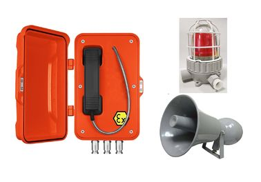 Orange Watertight Explosion Proof Telephone For Oil Exploration / Chemical Industry