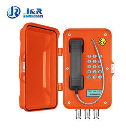 Analog IP VoIP Explosion Proof Telephone Full Keypad For Harsh Environment