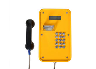 IP66 Industrial Weatherproof Telephone , Corded Landline Telephones With LCD Display