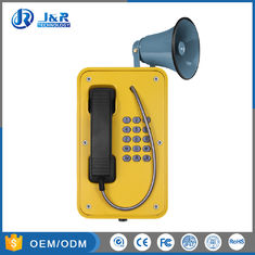 Yellow Industrial Weatherproof Telephone Simple Installation With Cast Aluminum Enclousure