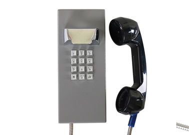 Weatherproof Inmate Jail Telephone Robust Housing Durable Keypad With Grey Color