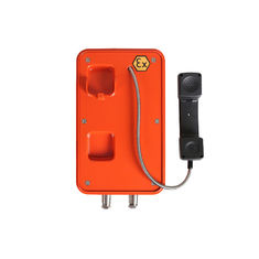 China Orange Color Explosion Proof Telephone , Flameproof Outdoor Analog Phone For Marine supplier