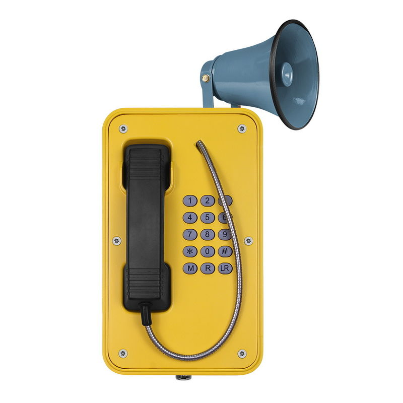 China Rugged Outdoor Sip Phone Aluminum Alloy Casting Body With Broadcast Supplier