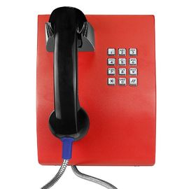 China Vandal Proof Handset Analog Wall Phone For Hospital / Bus Station Telephone factory