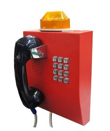 China IP65 Weather Resistant Telephone With Flashing Lamp , Anti Vandal Tunnel Telephone factory
