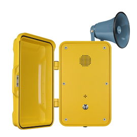 China Impact Resistant Industrial Weatherproof Telephone Equipped With Horn And Lamp factory