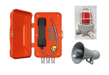 China Impact Resistant Safety Explosion Proof IP Phone Anti Dust With Lamp And Horn factory