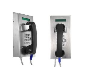 Stainless Steel Waterproof Industrial Analog Telephone With LCD Display