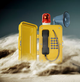 China Loud Speaker Dust Proof Watertight Telephone With Warning Lamp For Noisy Industry distributor