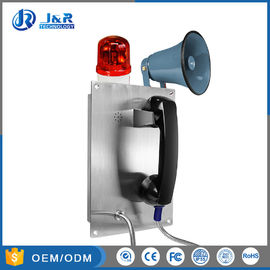 China Durable Stainless Steel Corded Wall Phone With Broadcasting Loud Speaker factory