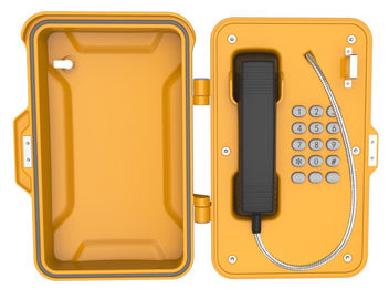 China Dustproof Industrial Weatherproof Telephone ,  Lockable Emergency Industrial Wall Phone Box factory