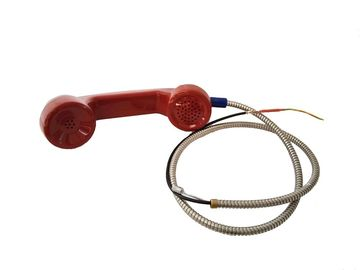 China Industrial Telephone Spare Parts Red Rugged Handset with Armored Cord distributor