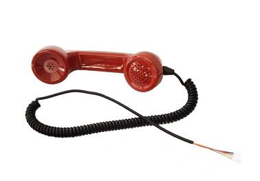 China Anti Destructive PC / ABS Material Red Telephone Handset for Public Phone distributor