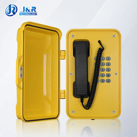 China VOIP/SIP Hazardous Area Telephones , Heavy Duty Weatherproof Telephone with black curly cord factory
