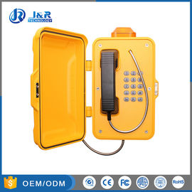 China Railway Industrial Weatherproof Telephone Aluminium Weatherproof Case With Alarm Light factory