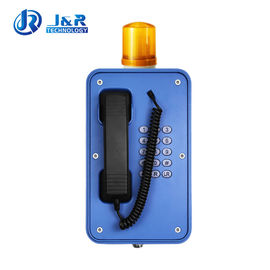 China Durable Industrial Weatherproof Telephone With Flashing Light And Stretched Cable factory