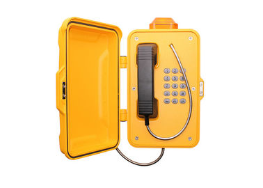 China Door Cover Heavy Duty Telephone With Vandal Resistant Stainless Steel Button factory
