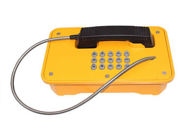 China Line Powered Heavy Duty Telephone Vandal Proof Rubber Keypad With Yellow Color factory