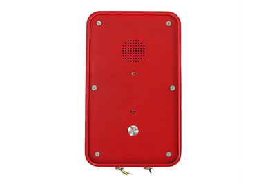 China IP66 Red SOS Industrial Weatherproof Telephone , Industrial Analog Telephone Outdoor factory