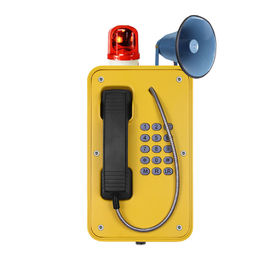 China Anti - Vandal Industrial Weatherproof Telephone , Heavy Duty Telephone With Horn factory