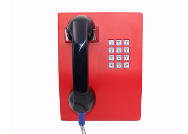China Full Keypad Courtesy Prison Telephone , Waterproof Outdoor Wall Mounted Telephones factory