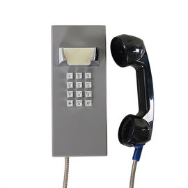 China Gray Color Waterproof Emergency Phone With ABS Material Handset 240 * 100 * 106 Mm factory