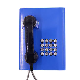 China Full Keypad Vandal Resistant Telephone Blue Color With Robust Cold - Rolled Steel Body factory