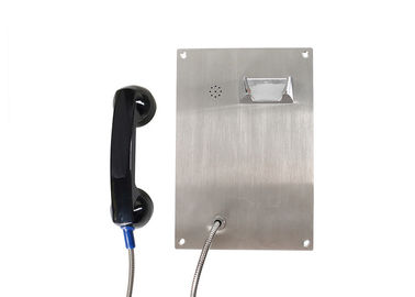 China Stainless Steel Vandal Resistant Telephone , Flulsh Mounting Elevator Emergency Telephones  factory