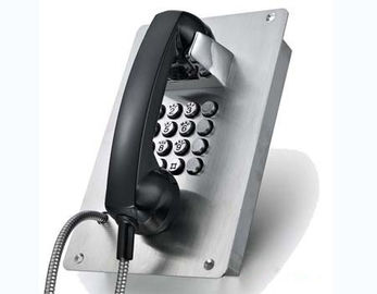 China Outdoor Vandal Resistant Telephone Stainless Steel Flush Mounting Full Keypad factory