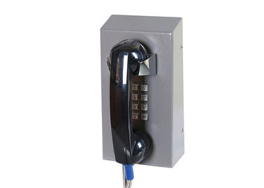 China Cold Rolled Steel Prison Visitation Phone , Jail Telephone ABS Material With Armored Cord factory