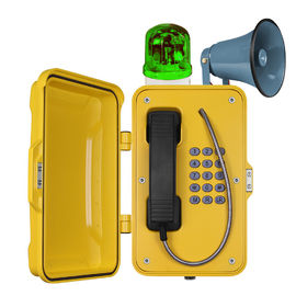 China IP67 Waterproof Industrial VoIP Tunnel Telephones With Horn And Beacon factory
