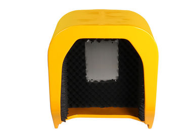 China Soundproof Telephone Hood Acoustic Phone Booth Public Call Box In Yellow Color distributor