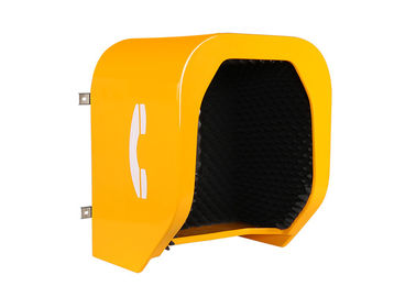 China Noiseproof Telephone Acoustic Phone Hood Wall Mounting Fiberglass Reinforced Polyester Material distributor