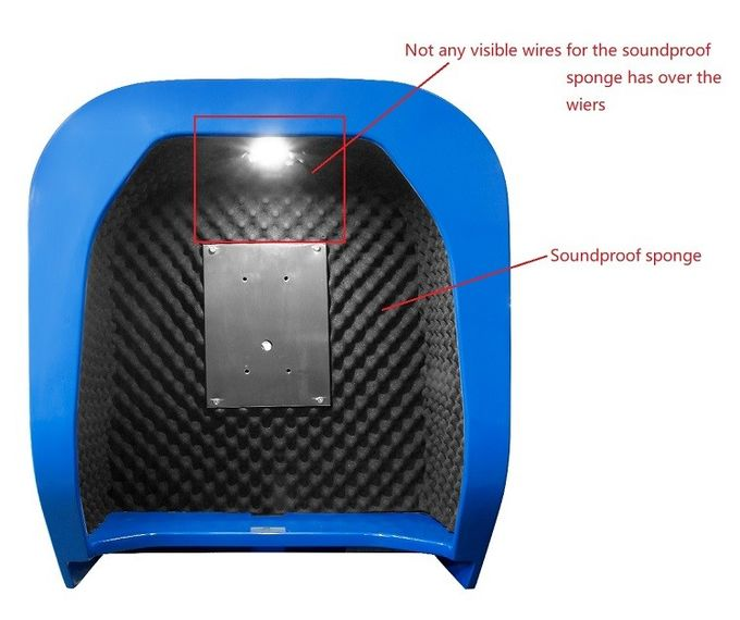 Soundproof Telephone Hood Acoustic Phone Booth Public Call